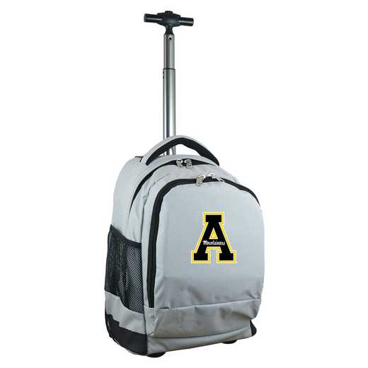 CLAPL780-GY: NCAA Appalachian State Mountaineers Wheeled Premium Backpack